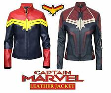 Women's Captain Marvel Slimfit High Quality Marvel Costume Faux Leather Jacket