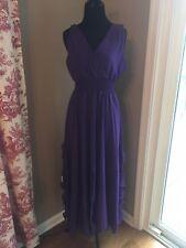 lijomeidisha Sheer Semi Formal Purple Dress New With Tags Large