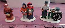 Heritage Village Collection Violet Vendor/Carolers/Chestnut Vendor Set of 3 plus