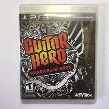 Guitar Hero Warriors of Rock (2010, Sony PlayStation 3 PS3)