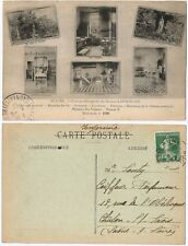 CPA Multivue chambre jardin Clinique chirurgicale Dr Lafourcade BEAUNE [678 R]
