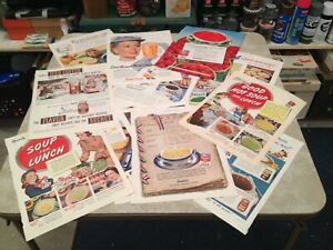 Vintage Magazine Ads (Lot of 25 full pg.) Saturday Evening Post - 1940s to 1960s