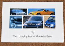 1996 MERCEDES BENZ New Models Brochure -SLK, C, E, V Class, A & M Class Concepts