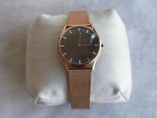 NWT Authentic Skagen Women's Holst Slim Rose-Tone Stainless Steel Watch SKW2378