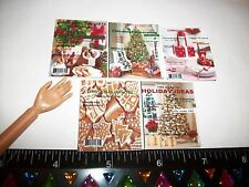 1:6 Scale New Dollhouse Miniature Handcrafted Christmas Magazine 5 Set Barbie