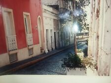 European Cobble Stone Street Photo Signed ALX 11X14 INCHES