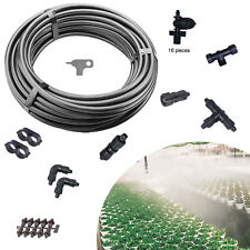 Fog Kit Mist System Misting Cooling Propagation Humidity Greenhouse Patio Equine