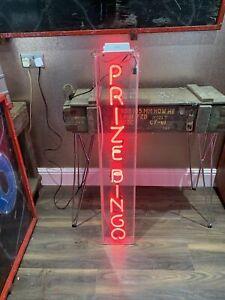 Genuine Vintage Amusement Arcade Neon Sign 'Prize Bingo'