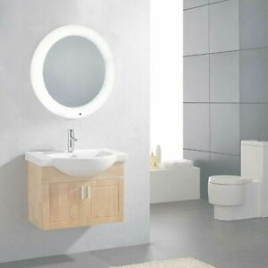 BATTERY OPERATED LED ILLUMINATED BATHROOM MIRROR LIGHT SMART TOUCH CONTROL NEW