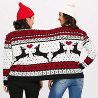Couples Sweater Pullover Two Person Ugly Sweater Novelty Christmas