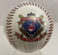 Cleveland Indians Baseball with Blue Diamond Est. since 1901 In Plastic