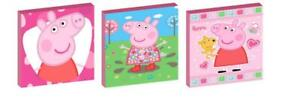 PEPPA PIG CANVAS WALL ART PLAQUES/PICTURES set of 3
