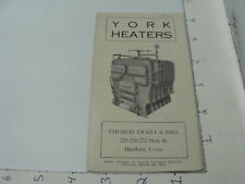 ORIGINAL Booklet: 1923 YORK HEATERS - thomas trant & bro 12pgs, i show all