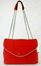Nine West NWT $89 Fiery Red Crossbody Shoulder Crossbody Dayne Studs Flap Snap
