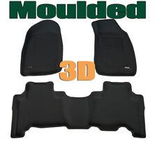 To suit ISUZU D Max Dual Cab 2008 - 2012 - 3D BLACK Rubber Car Mats