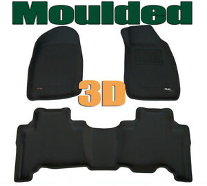 Fits Holden Rodeo 2002 - 2008 Dual Cab Genuine 3D BLACK Rubber Car Mats