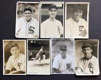 Chicago White Sox Lot Of 7 George Burke 4x6 Original Type 1 Photos