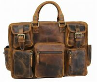 Herren Leder Tasche Aktentasche Laptop 15.6 Damen Businesstasche Umhängetasche