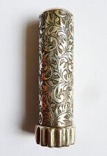 Étui tube baton de rouge à lèvres en ARGENT massif Art Deco 1925 Sterling