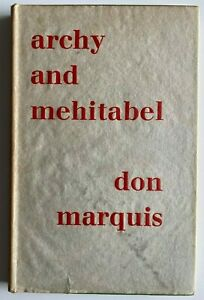 1946 Archy & Mehitabel, by Don Marquis, free EXPRESS AUST