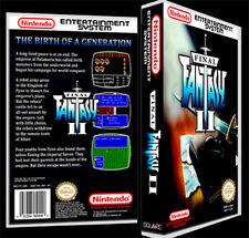 Final Fantasy 2 - NES Reproduction Art Case/Box No Game.