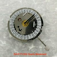 New ISA 8171/202 8161 Quartz Watch Chrono Movement 6 pin Date At 4' Replacement