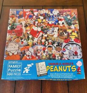 COMPLETE Springbok 1995 PEANUTS SNOOPY CHARLIE BROWN Family 500 PC Jigsaw Puzzle