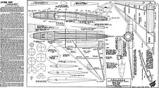 "Skyleada AVRO 698 prototype Vulcan plan set jetex 50 powered model 15"" span"