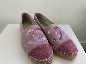 chanel espadrilles 38 - 2016 Cruise Seoul Pink Sequin