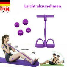 4-Rohr-Zugseil Fußpedal Widerstandsband Yoga-Übung Sit-up Fitnessgeräte Bauch DE