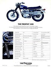 TRIUMPH Brochure T100C T100 Trophy 1970  Sales Catalog Catalogue REPRO