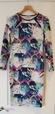 Papaya Bodycon Style Midi Dress With Gorgeous Floral Pattern Size 10 Worn Once
