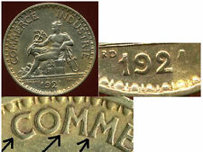 1 franc  chambre de commerce  1921  ( Pièce fautée )  ( variete )
