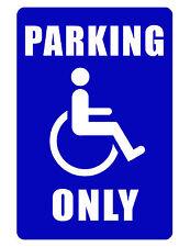 Handicap Parking Sign NO TRESPASSING SIGN DURABLE ALUMINUM FULL COLOR NO RUST