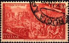 ITALIA REP. - 1948 - Risorgimento - 10 l. rosso arancio