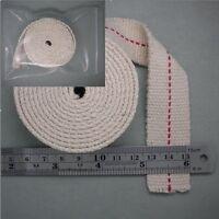 """FLAT COTTON KEROSENE OIL LAMP WICK Wide 1 inch, 5 feet LONG ,  Width 1"""" NEW 5 FT"""