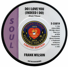 "FRANK WILSON  ""DO I LOVE YOU"" 40th ANNIVERSARY LTD EDITION PICTURE DISC"