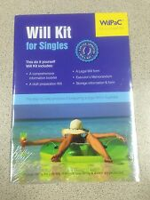 Wilpac Australian Will Kit for Singles Lawyer Approved RRP $19.95