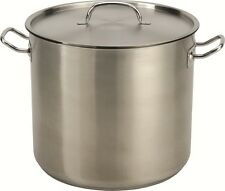 32-35 QT Quart Heavy Tri-Ply Base Stainless Steel Stock Pot Beer Brew Gumbo Stew