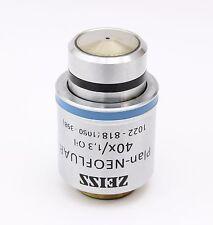 Zeiss Plan Neofluar 40x 1.30 Oil Microscope Objective 1022 - 818 (1080 - 398)