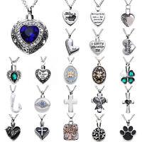 Silver Urn Cremation Memorial Pendant Necklace Ash Holder Mini Keepsake Jewelry