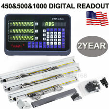 3 Axis Digital Readout DRO TLL Linear Glass Scale Bridgeport Mill 450&500&1000MM