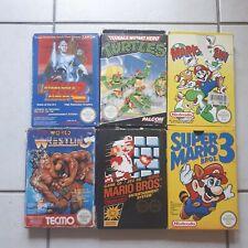 Lot 6 Jeux Nintendo Nes (megaman, mario, turtles....) en boîte nitendo fra