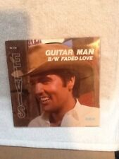 "45 ""Guitar Man/Faded Love""-Elvis Presley w/Picture Sleeve-RCA #PB-12158"