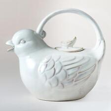 Bird Teapot: White - Stoneware by World Market