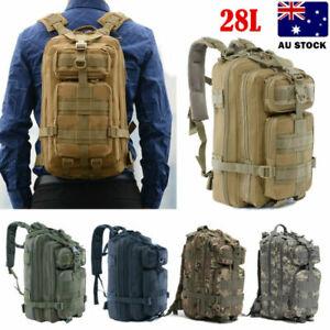 Waterproof  28L Military Tactical Backpack Rucksack Bag Camping Outdoor Hiking