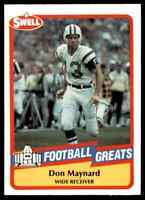 1989 Hall of Fame RED #139 Don Maynard HOF RARE New York Jets / Texas El Paso