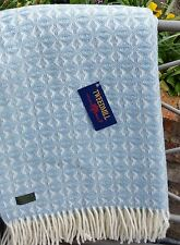 Sofá-Cama Manta De Lana Cobweave tiro Alfombra Azul Huevo De Pato British hecho por Tweedmill
