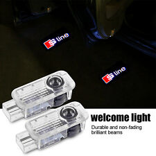 2x Ghost Shadow Sline Laser Projector LED Door Logo Light for AUDI A4 A6 A8 A3