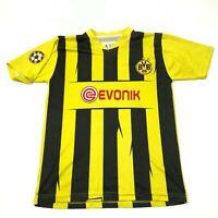 VINTAGE Toni Schumacher Borussia Dortmund Soccer Jersey Size Medium M Yellow BVB